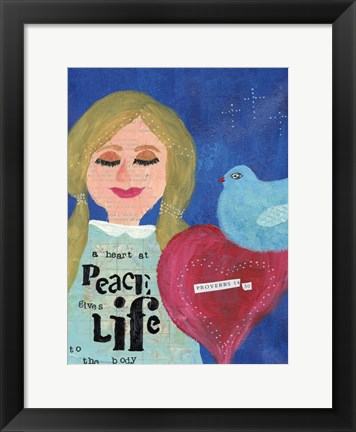 Framed Heart At Peace 2 Print