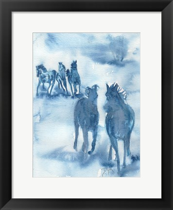 Framed Hooves Of Thunder Print
