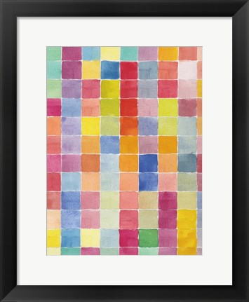 Framed Rainbow Color Block 1 Print