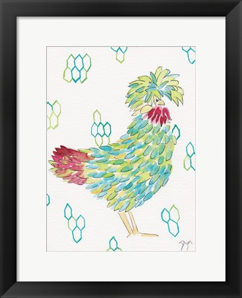 Framed Funky Chicken 1 Print