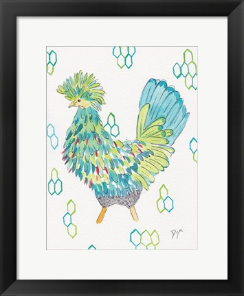 Framed Funky Chicken 2 Print
