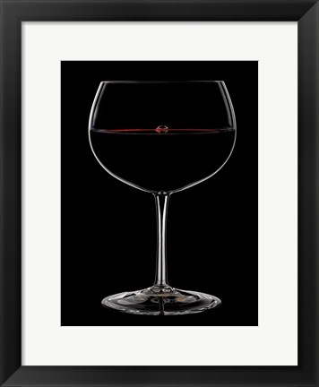 Framed Bubble in the Red 2 Print