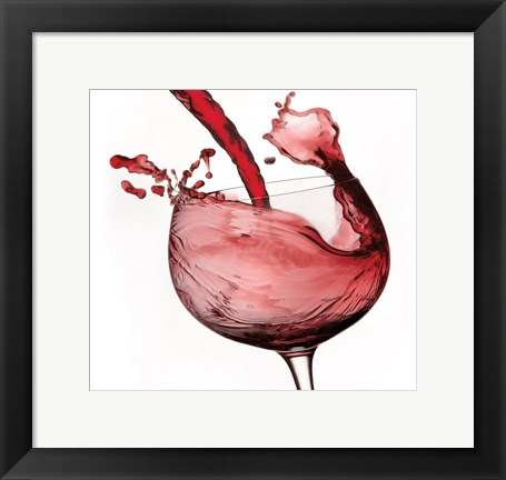 Framed Red Wine Pour 2 Print