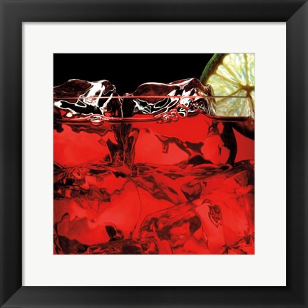 Framed Dubonne Red Print