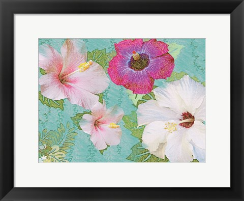 Framed Hibiscus Flowers Print