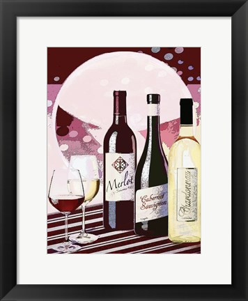 Framed Wine Table Print
