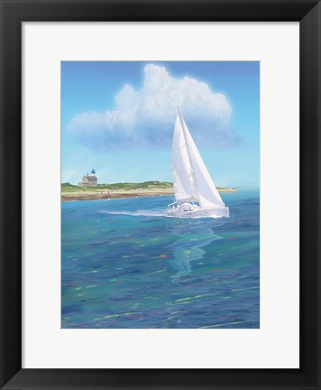 Framed Sailboat Peace Print