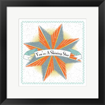 Framed Youre A Shining Star Print