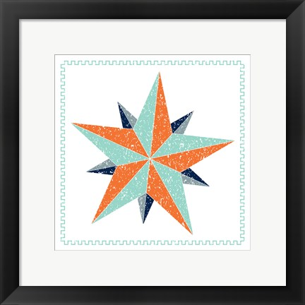 Framed Decagram Star Print