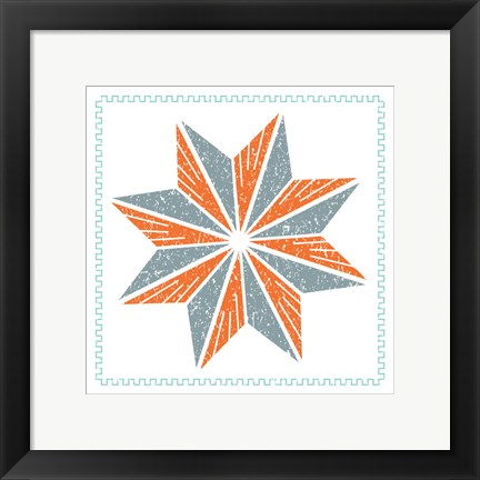 Framed Octagram Star Print