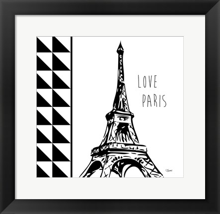 Framed Love Paris Print