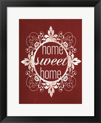 Framed Red Chalk Home Print