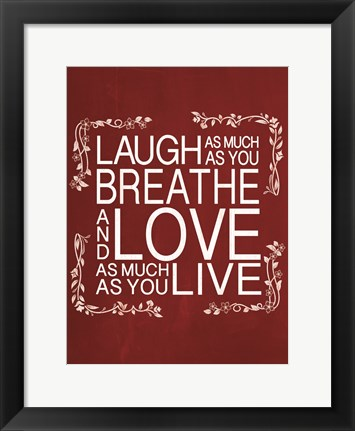 Framed Red Chalk Laugh Print