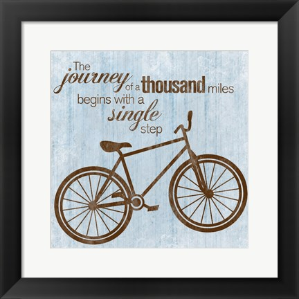 Framed Journey Bike Print