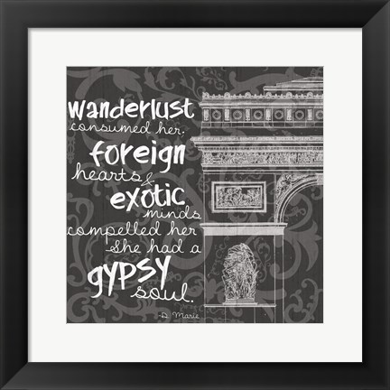 Framed New Paris BW Print