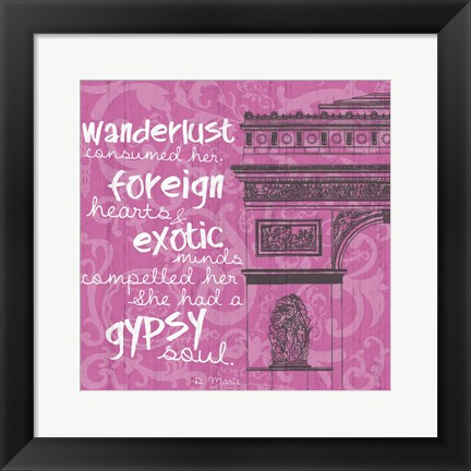 Framed New Paris Pink 2 Print