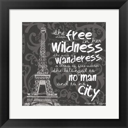 Framed Paris City BW Print