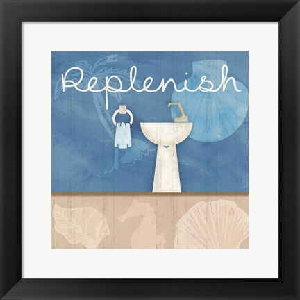 Framed Replenish Sink Print