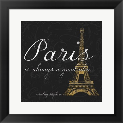 Framed Paris Square GB Print