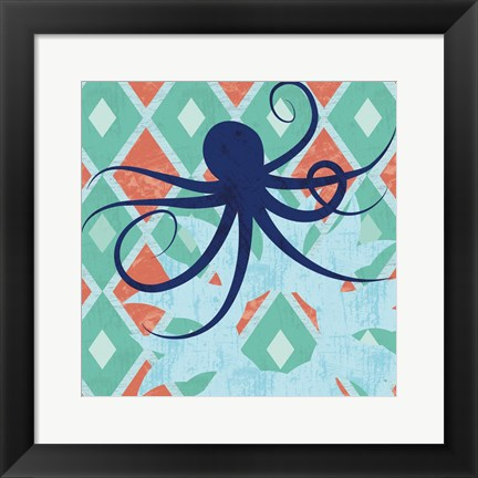 Framed Under the Sea Octo Print