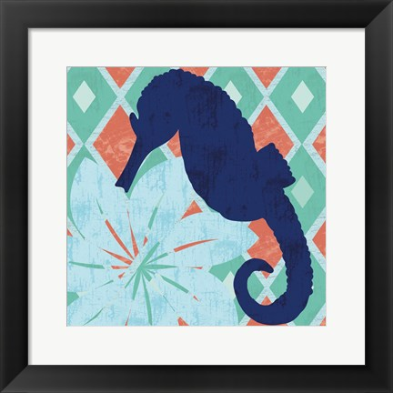 Framed Under the Sea Horsie Print