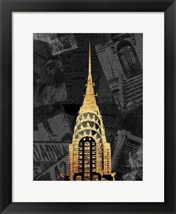 Framed Gold NY Mate Print