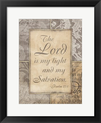 Framed Lord Is My Light Print