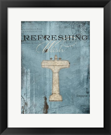 Framed Refreshing Wash Print