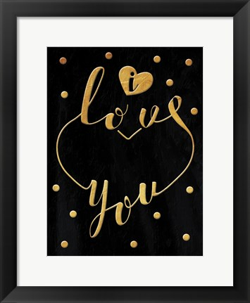 Framed Love Is Gold Print