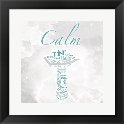Framed Calm Type Sink Print