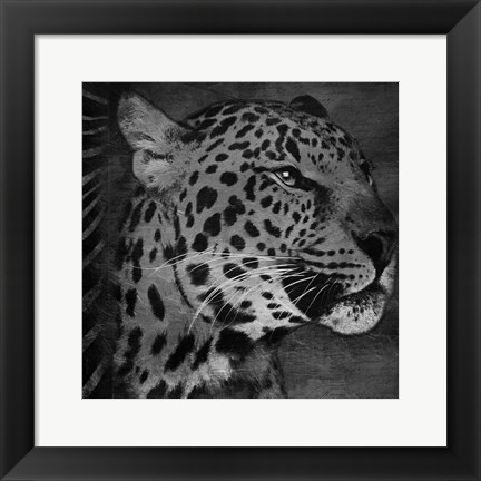 Framed Animal Instincts Black And White Mate Print