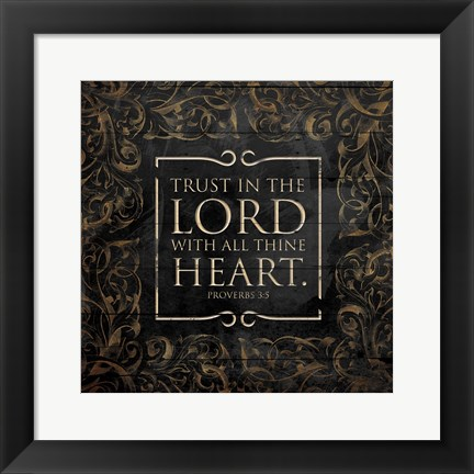 Framed Lord With Heart Print