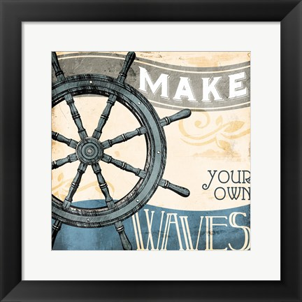 Framed Make Your Own Waves Print