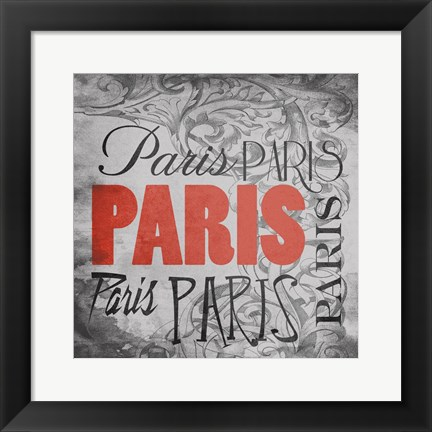 Framed Paris Victorian Print
