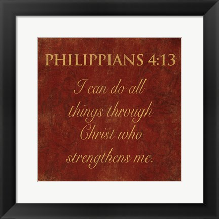 Framed Philippians Spice Print