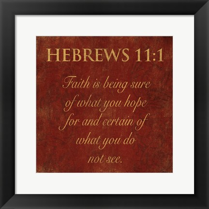 Framed Hebrews Spice Print