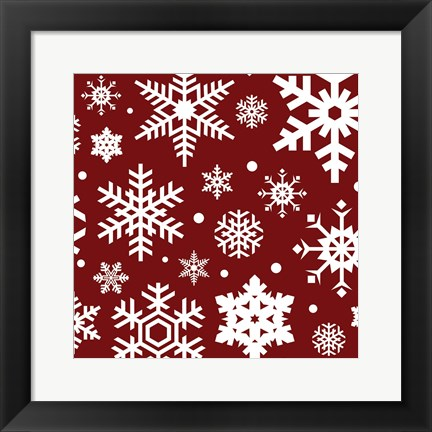 Framed Red Flakes Print