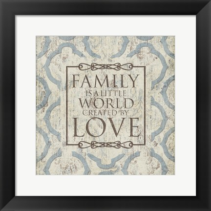 Framed Family Love Print