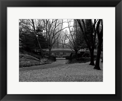 Framed Central Park Bridge 3 Print