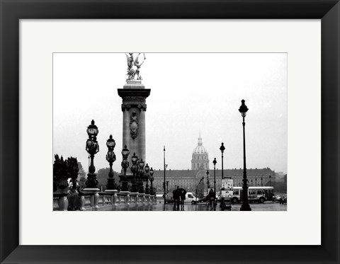 Framed Paris Rain Print