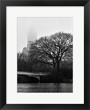 Framed Central Park Bridge I Print