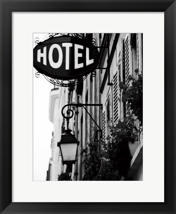 Framed Paris Hotel Print