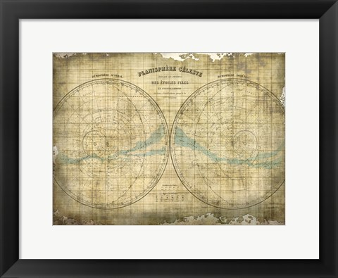 Framed Constellation Map 1 Print