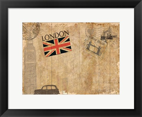 Framed Post Card London Print