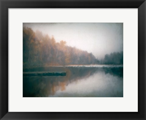 Framed Cloudy Lake Print