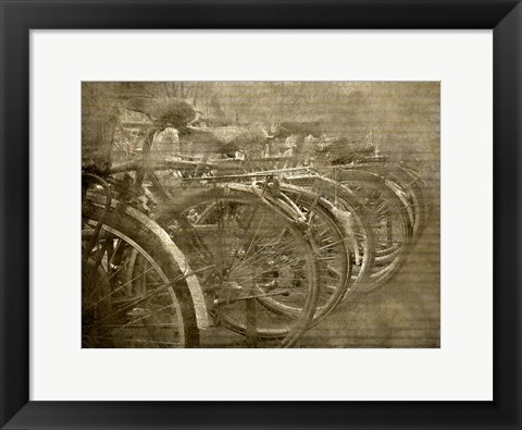 Framed Bicycles Print