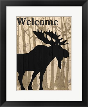 Framed Welcome To The Lodge Print