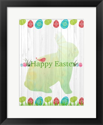 Framed Easter Eggs Print