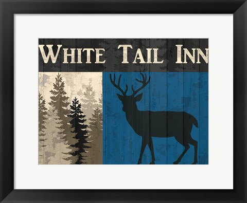 Framed White Tail Inn Print