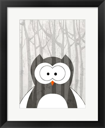 Framed Woodland Owl Print